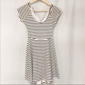 Pink Victoria Secret striped black white dress S
